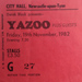 Yazoo concert ticket