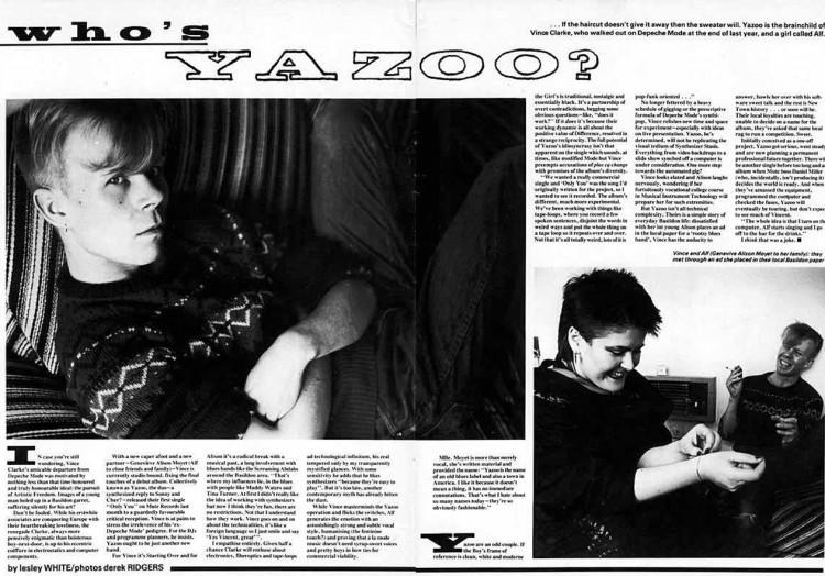 Anyone, Who's Yazoo? interview
