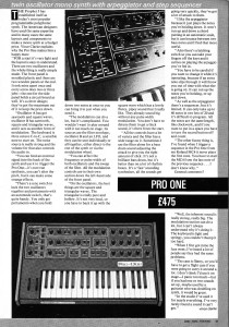 Vince Clarke on the Pro One